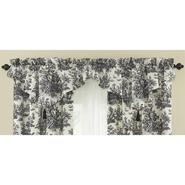 "Waverly Country Life Black 52""x20"" Ascot Window Valance with Tassel at Sears.com"