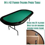 Trademark Poker 84 x 42 Texas Holdem Poker Padded Folding Table at Kmart.com