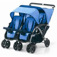 Foundations The Quad 4-Passenger Dual Canopy Folding Stroller at Sears.com
