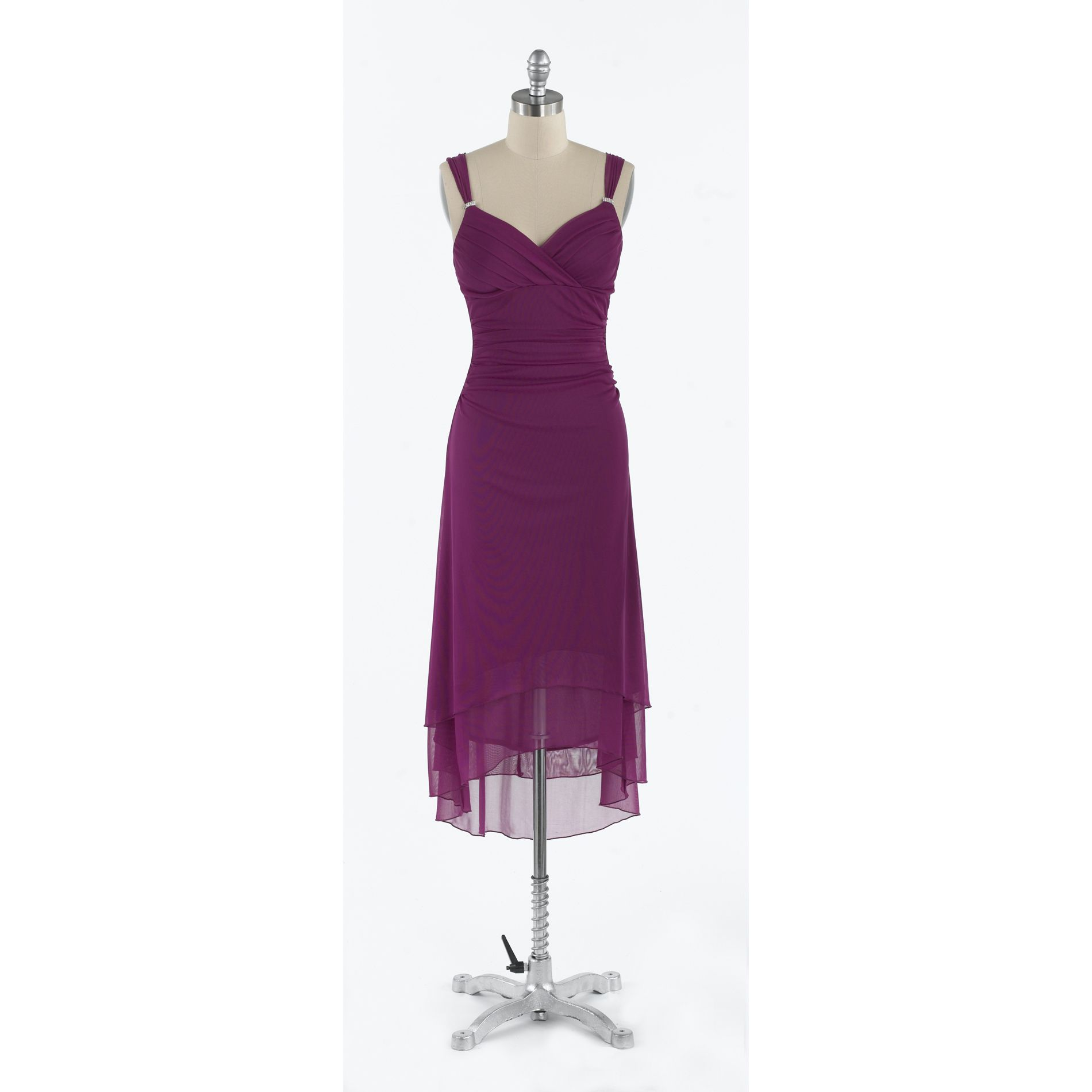Trixxi Magenta Uneven Hem Dress at Kmart.com
