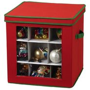 Household Essentials 27 pc Holiday Ornament Cube red canvas with trim at Kmart.com