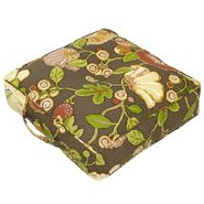 Greendale Home Fashions 20-inch Square Floor Pillow - Hip Floral fabric -  Chocolate. at Sears.com