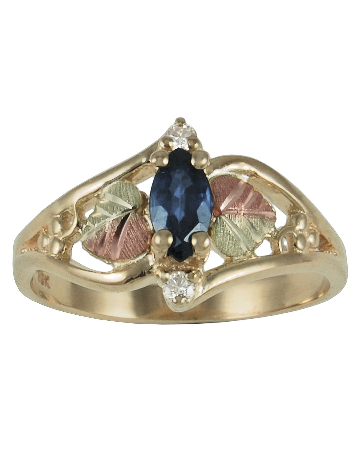 Signature Series Sapphire and Diamond Accent Ring