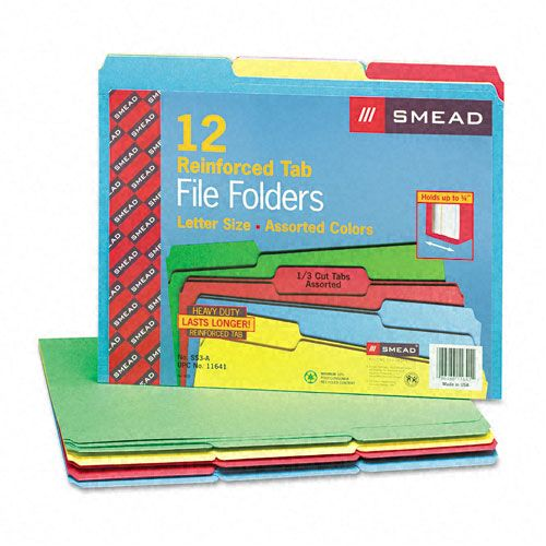 Reinforced Top Tab Colored File Folders