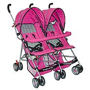 Dream On Me Side By Side, Twin Baby Stroller, Pink at Sears.com