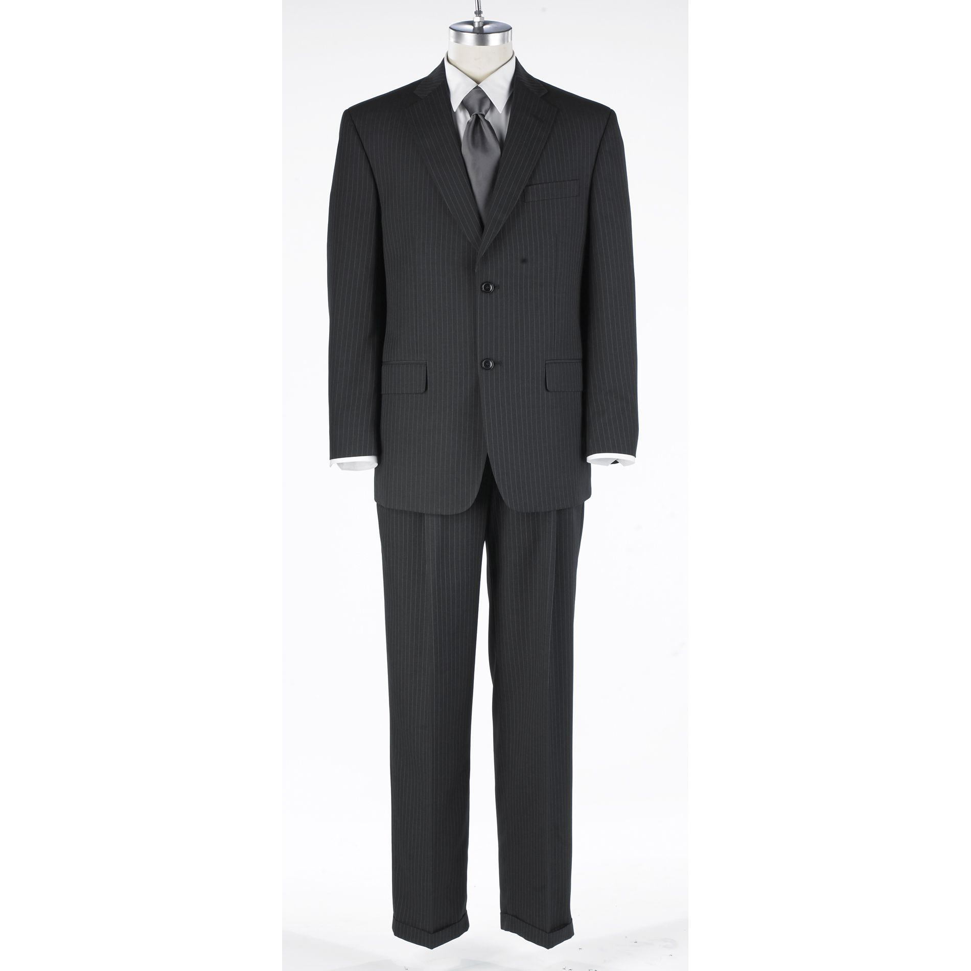 Haggar Charcoal Stripe Suit Separate Collection at Sears.com