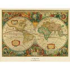 Transitional wall art vintage kmart trademark global 18x24 inches old world map painting gumiabroncs Image collections