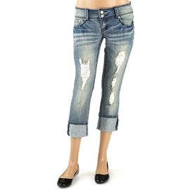 Almost Famous Women's Destructed Capri Jean at Sears.com