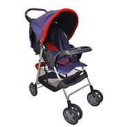 Dream On Me Reclining Stroller With Console, Red/Blue at Kmart.com