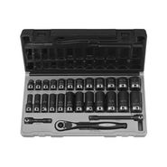 "Grey Pneumatic 27 Piece 3/8"" Drive Standard and Deep Fractional 6 Point Duo-Socketâ""¢ Set at Sears.com"