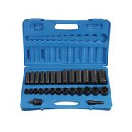 "Grey Pneumatic 28 Piece 1/2"" Drive Standard and Deep Length Impact Socket Set at Sears.com"
