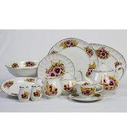 Lynns Spring Pansies 49pc dinner set at Kmart.com