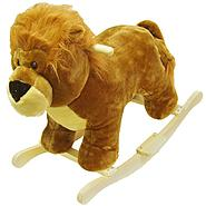 HAPPY TRAILS™ Lion Plush Rocking Animal at Sears.com
