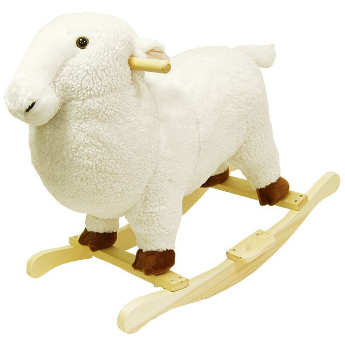 HAPPY TRAILS™ Lamb Plush Rocking