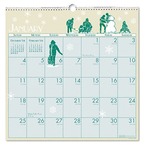 Illustrated Monthly Wall Calendar