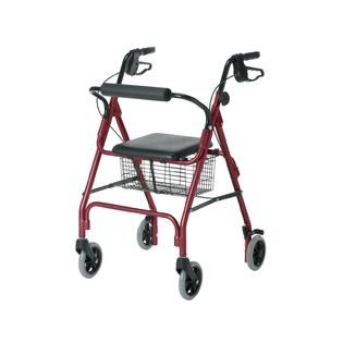 Medline Guardian Envoy 460 Economy Rolling Walker-Red