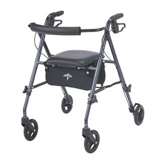 Medline FREEDOM ROLLATOR, SMOKEY BLUE