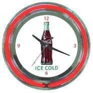 "Trademark Fine Art ""Coca Cola Ice Cold Bottle Neon Clock"" - 14 inch Diameter at Kmart.com"