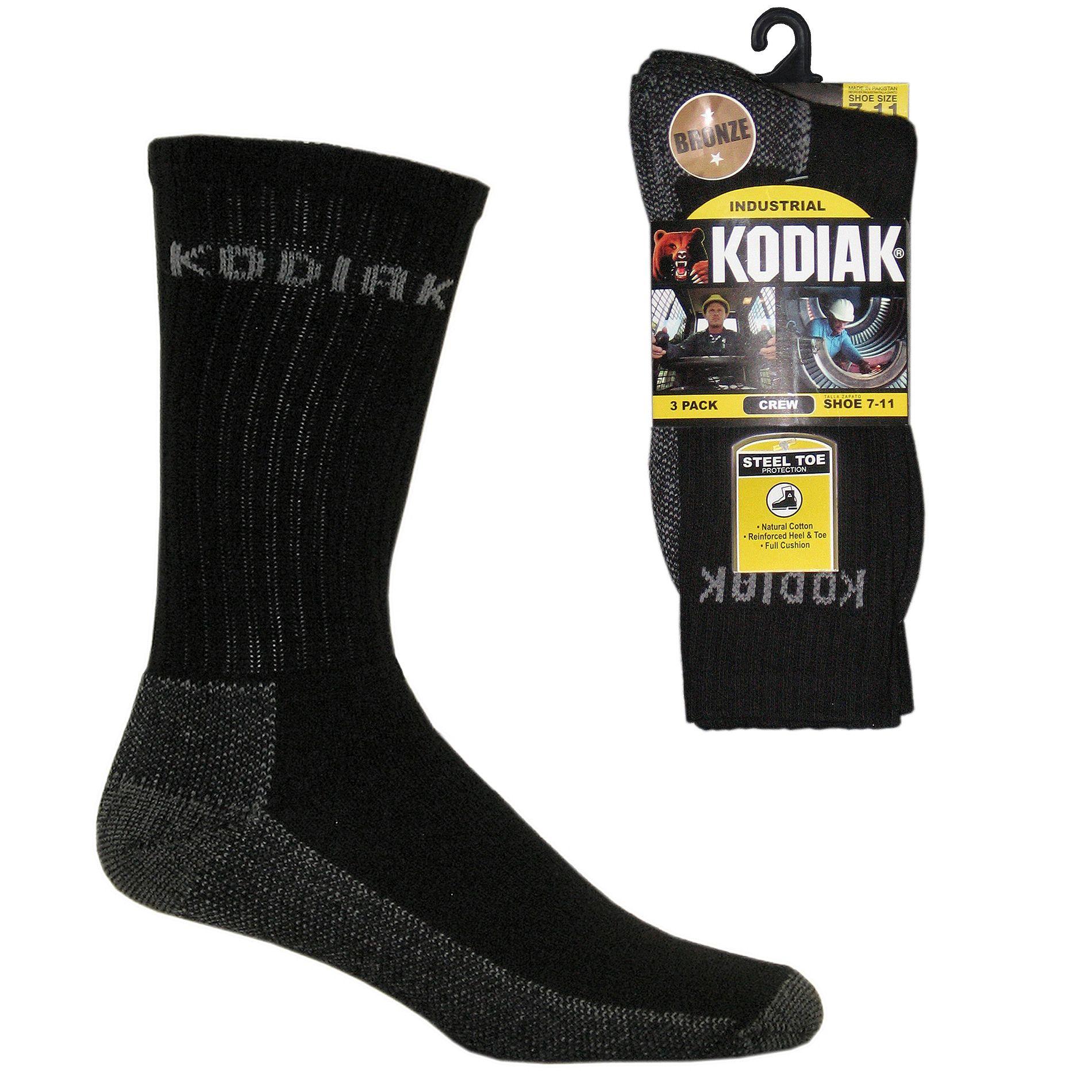 Men's Steel Toe Protection Crew Sock - 3 Pair Pack