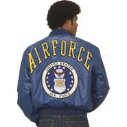 Excelled Men's Air Force Insignia Non-Leather Jacket at Kmart.com