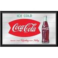 Trademark Coca-Cola Ice Cold Bottle Mirror Horizontal Refreshing New Feeling at Kmart.com