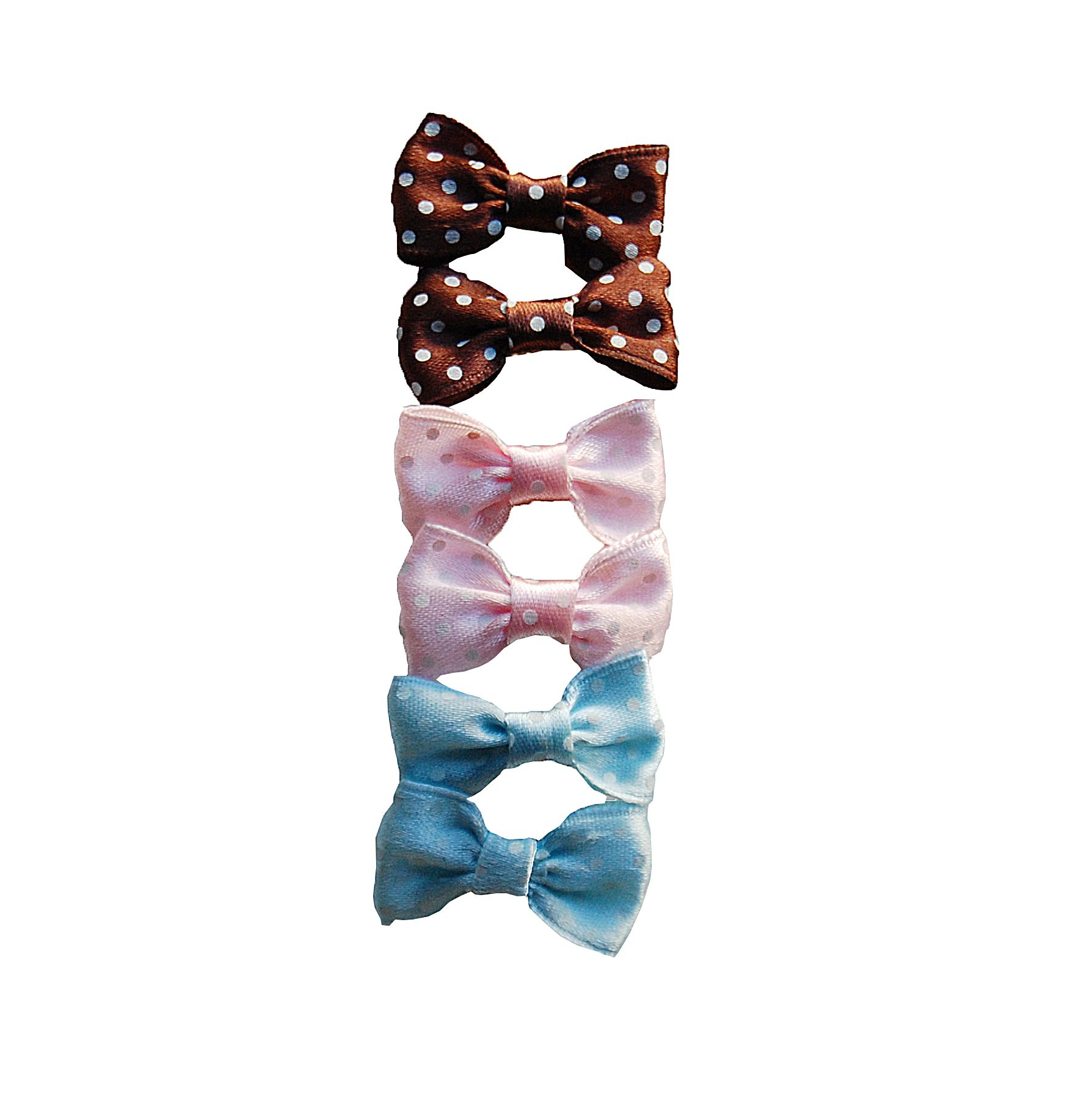 Anima  Barrettes Bow, Mixed Polka Dot- 6