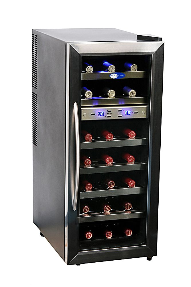 Stainless Steel Wine Cooler 21 Bottle Dual