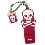 Emtec USB Flash Drive 4GB Skull and Crossbones (Red) at Kmart.com