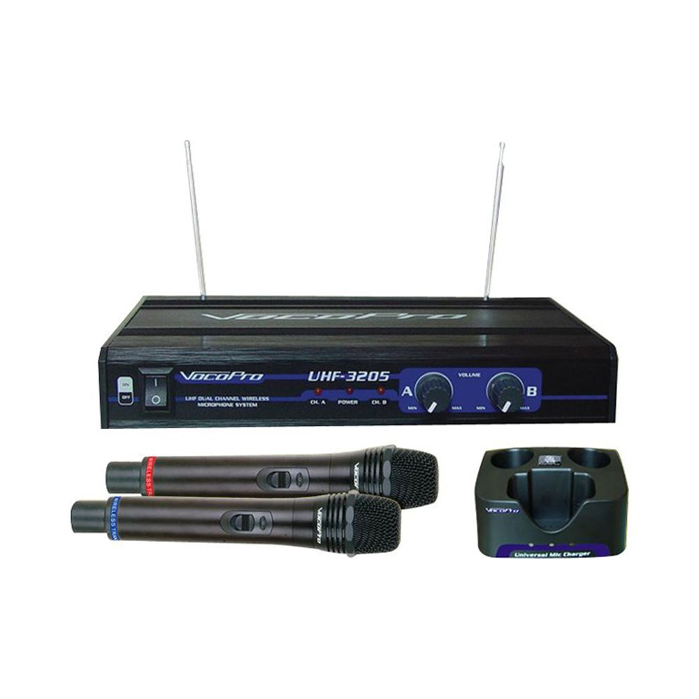 Voco Pro UHF-3205 Rechargable Wireless Handheld Microphone System