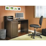 Bush Industries MySpace Cobalt Single Ped Desk with Short Hutch in Mocha Cherry at Kmart.com