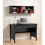 Prepac Black Contemporary Computer Desk & Wall Mounted Desk Hutch Combination at Kmart.com