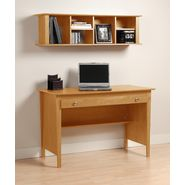 Prepac Maple Contemporary Computer Desk & Wall Mounted Desk Hutch Combination at Kmart.com