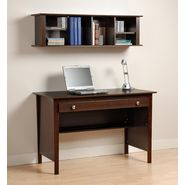 Prepac Espresso Contemporary Computer Desk & Wall Mounted Desk Hutch Combination at Kmart.com