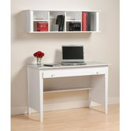 Prepac White Contemporary Computer Desk & Wall Mounted Desk Hutch Combination at Kmart.com