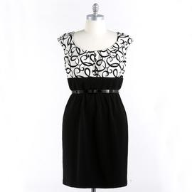 London Style Women's Plus Cap Sleeve Belted Sheath Dress at Kmart.com