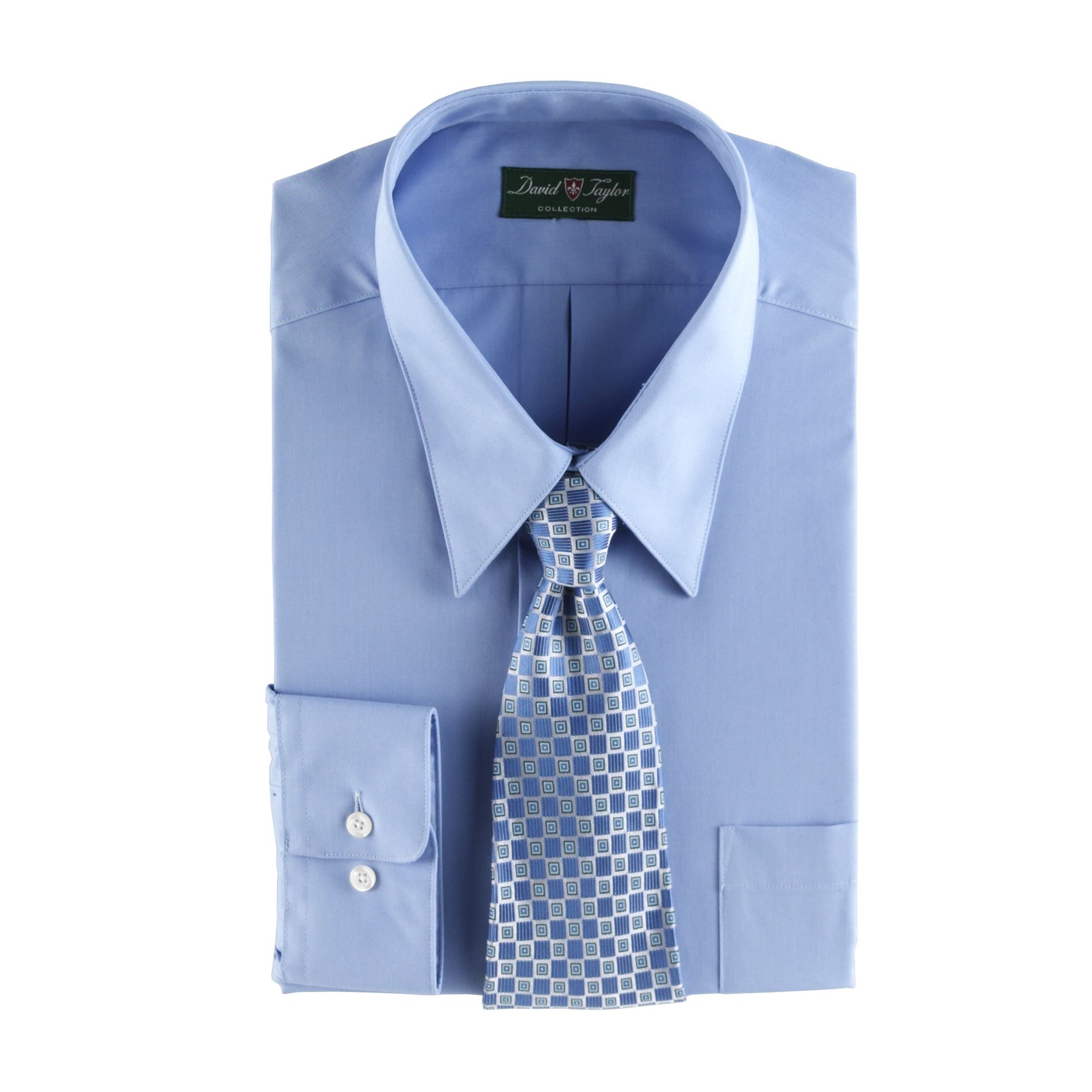 Men's Dress Shirt & Tie Set