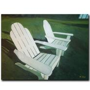 "Trademark Fine Art 18x24 inches ""Lawn Chairs"" by Rickey Lewis at Sears.com"