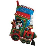 "Bucilla Candy Express Stocking Felt Applique Kit-18"" Long at Kmart.com"