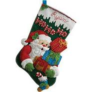 "Bucilla Ho Ho Ho Santa Stocking Felt Applique Kit-18"" Long at Kmart.com"