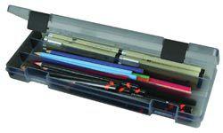 "Art Bin Pencil Box-12.38""X4.875""X1.75"" Translucent Charcoal PartNumber: 021V002519654000P KsnValue: 2519654 MfgPartNumber: 6900AB"