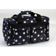"Rockland Fox Luggage 19"" Tote Bag, Black Dots at Kmart.com"