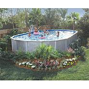 "GSM 15' x 30' Oval Vero Beach Above Ground Pool Package, 52"" Height - Free Shipping at Sears.com"