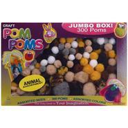 Pepperell Pom Poms Assorted 300/Pkg-Animal Colors at Kmart.com
