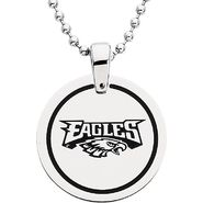 NFL Philadelphia Eagles Logo Circle Pendant with Chain at Sears.com