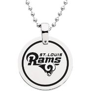 NFL St. Louis Rams Logo Circle Pendant with Chain at Sears.com