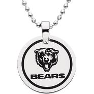 NFL Chicago Bears Logo Circle Pendant with Chain at Sears.com