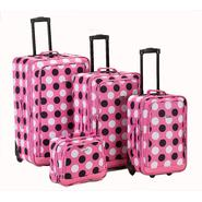 Rockland Fox Luggage 4PC PINK DOT LUGGAGE SET at Kmart.com