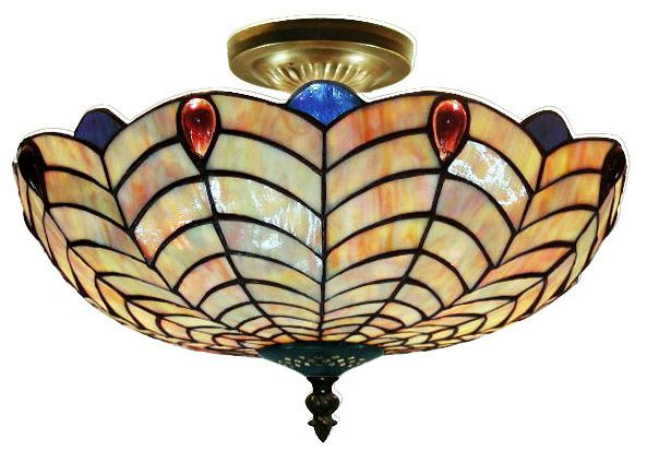 Tiffany-style Shell Ceiling Lamp