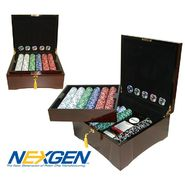 Trademark Poker 750 Jackpot Casino Clay Chips w/ Mahogany Case at Kmart.com