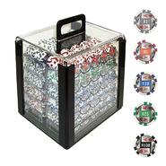 Trademark Poker 1000 4 Aces w/Denominations Poker Chips in Acrylic Carrier at Kmart.com